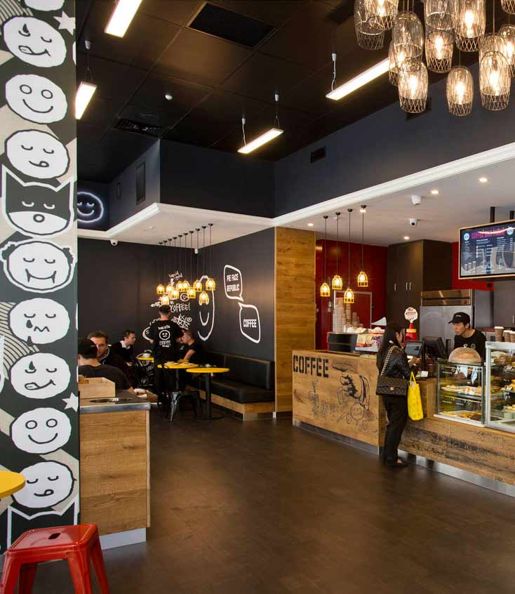 Pieface shop fit out by Arch Construction New Zealand